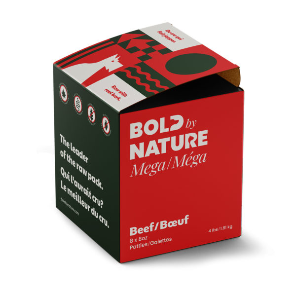 Bold by Nature Mega, 4 lb beef patties