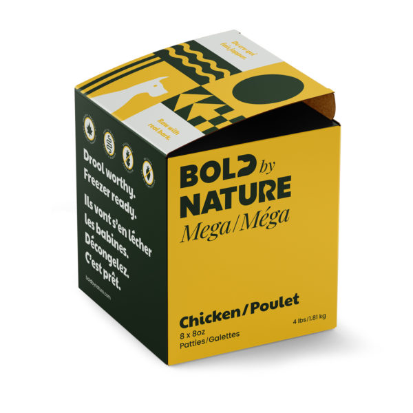 Bold by Nature, 4 lb chicken patties