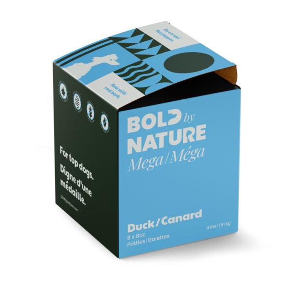 Bold by Nature Méga, Galettes de canard boîte de 4 lb