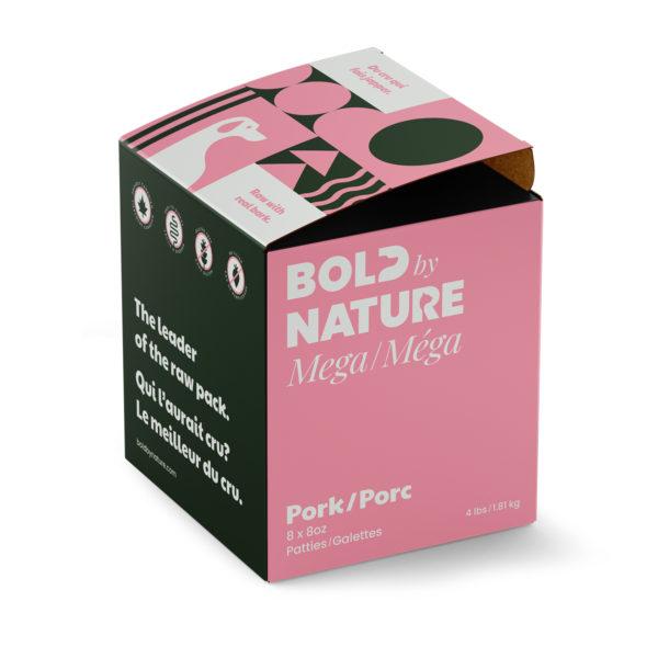 Bold by Nature Méga, Galettes de porc boîte de 4 lb