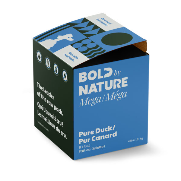Bold by Nature Méga, Galettes de canard pure boîte de 4 lb