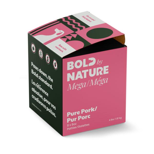 Bold by Nature Méga, Galettes de porc pure boîte de 4 lb