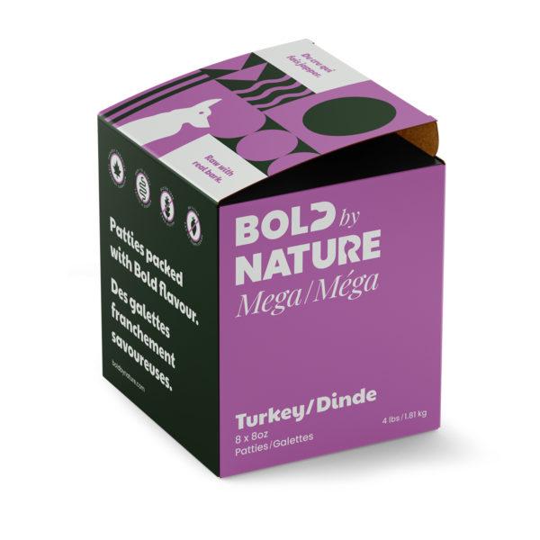 Bold by Nature Méga, Galettes de dinde boîte de 4 lb