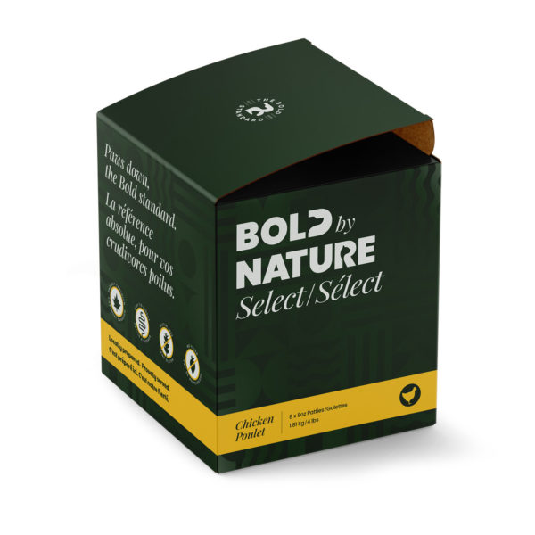 Bold by Nature Select, 4 lb chicken patties