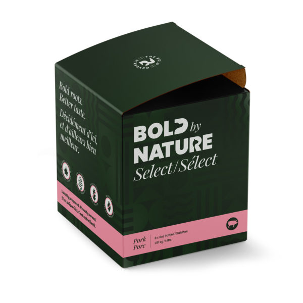 Bold by Nature Select, 4lb pork patties