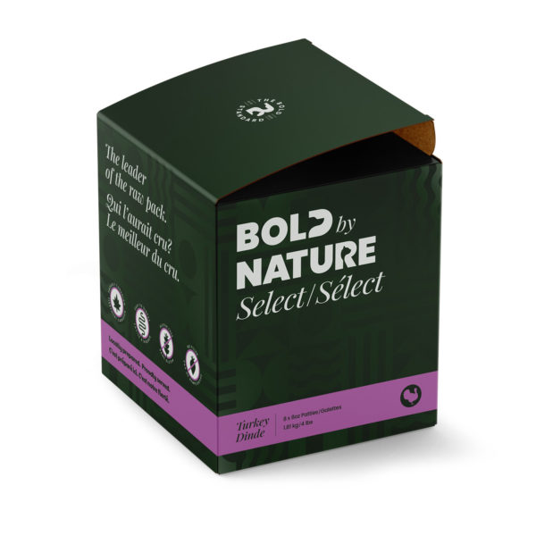 Bold by Nature Select, 4lb turkey patties