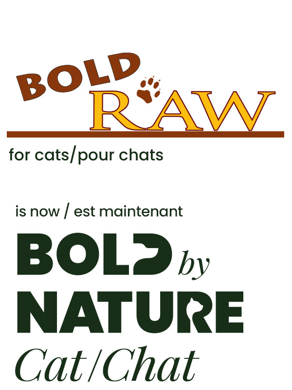 Bold Raw pour chats est maintenant Bold by Nature Chat